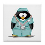 Surgeon Penguin Tile Coaster