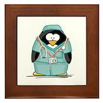Surgeon Penguin Framed Tile