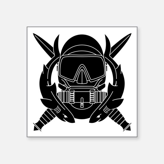 "Cute Us army ranger scroll Square Sticker 3"" x 3"""