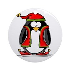 Christmas Elf Ornament (Round)