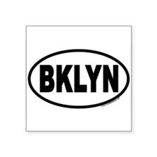 "Unique Brooklyn Square Sticker 3"" x 3"""