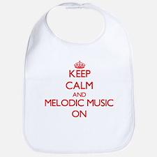 Keep Calm and Melodic Music ON Bib