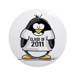 Class of 2011 Penguin Ornament (Round)
