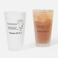 Psalms 67:6-7 Drinking Glass