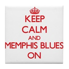 Keep Calm and Memphis Blues ON Tile Coaster