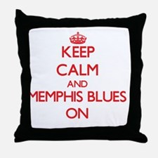 Keep Calm and Memphis Blues ON Throw Pillow
