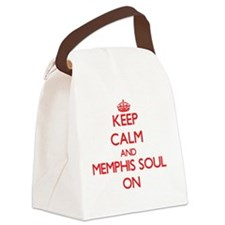 Keep Calm and Memphis Soul ON Canvas Lunch Bag