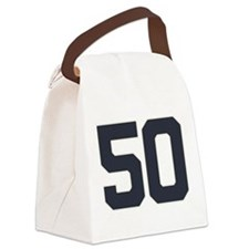 50 50th Birthday 50 Years Old Canvas Lunch Bag