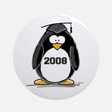 2008 Graduation Penguin Ornament (Round)