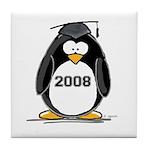 2008 Graduation Penguin Tile Coaster