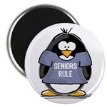 Seniors Rule penguin Magnet