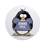 Seniors Rule penguin Ornament (Round)
