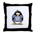 Seniors Rule penguin Throw Pillow