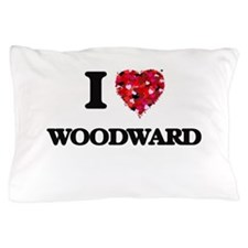 I Love Woodward Pillow Case
