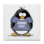 Seniors Rule penguin Tile Coaster
