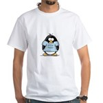 Proud Poppa penguin White T-Shirt