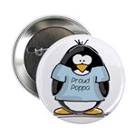 Proud Poppa penguin Button