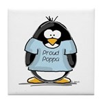 Proud Poppa penguin Tile Coaster