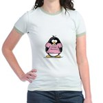 Proud Momma penguin Jr. Ringer T-Shirt