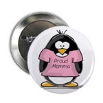 Proud Momma penguin Button