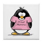 Proud Momma penguin Tile Coaster