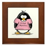 Proud Momma penguin Framed Tile