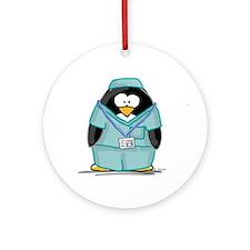 Operating Room Penguin Ornament (Round)