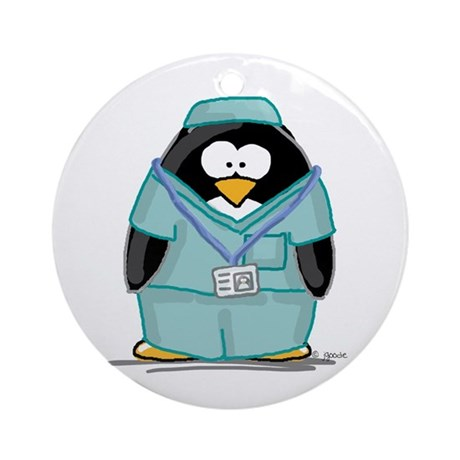 Operating Room Penguin Ornament (Round)
