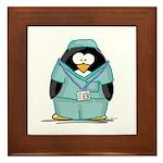 Operating Room Penguin Framed Tile