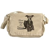 Adopt a greyhound Canvas Messenger Bags