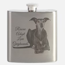 Love Greyhounds Flask