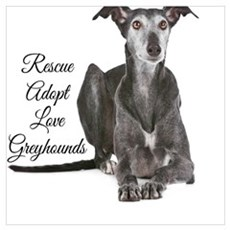 Love Greyhounds Poster