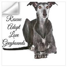 Love Greyhounds Wall Decal