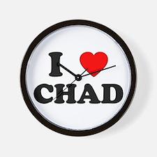 I Love Chad Wall Clock