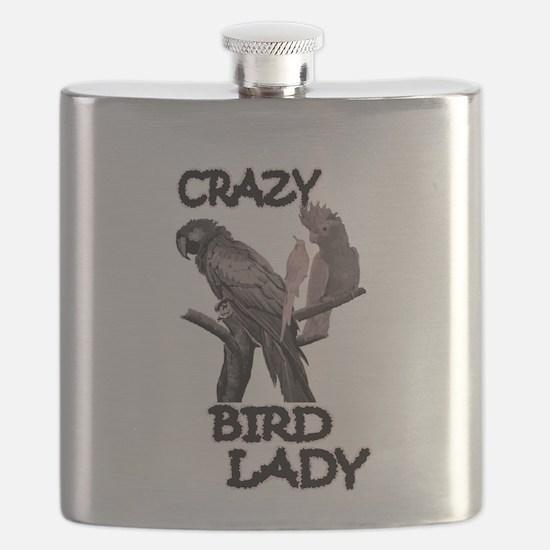 Crazy Bird Lady Flask