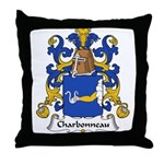 Charbonneau Family Crest Throw Pillow