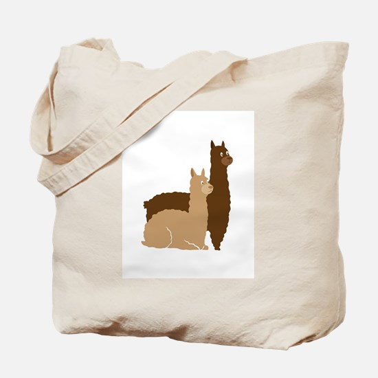 2 alpacas Tote Bag