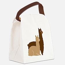 2 alpacas Canvas Lunch Bag
