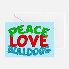 Bull Dogs Greeting Card