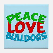 Bull Dogs Tile Coaster