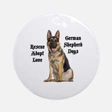 Love GSDs Round Ornament