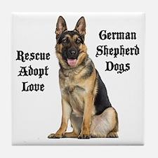 Love GSDs Tile Coaster