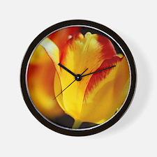 Red Yellow Tulips 125 Wall Clock