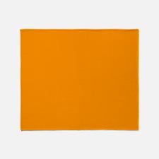 Solid Princeton Orange Throw Blanket