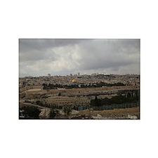 Jerusalem City View Rectangle Magnet