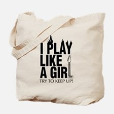 i play like a girl try to keep up (Guitar Tote Bag
