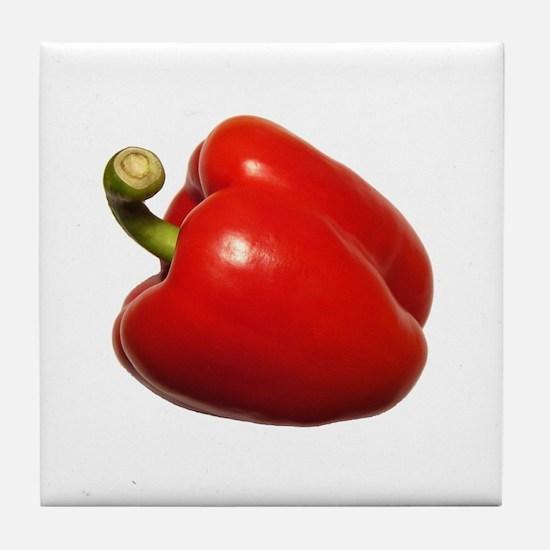 Red Bell Pepper Art Tile