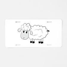 Sheep Aluminum License Plate