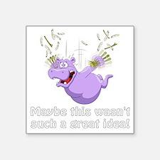"Unique Purple hippos Square Sticker 3"" x 3"""