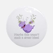 Cute Disappointment Round Ornament
